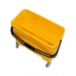 Ведро для мытья окон 24л на колесах, желтое