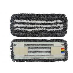 МОП - плоский-тафтинговый - Эконом, темный, комби: ворс: ХБ/ПЭФ+микрофибра, карман+стропа, 40см.