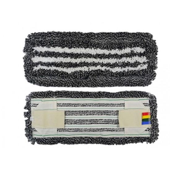 МОП - плоский-тафтинговый - Эконом, темный, комби: ворс: ХБ/ПЭФ+микрофибра, карман+стропа, 50см.
