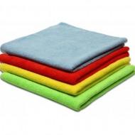 Микрофибра махра 220г/м2, салфетка 30х30см., желтый, красный, зеленый, синий